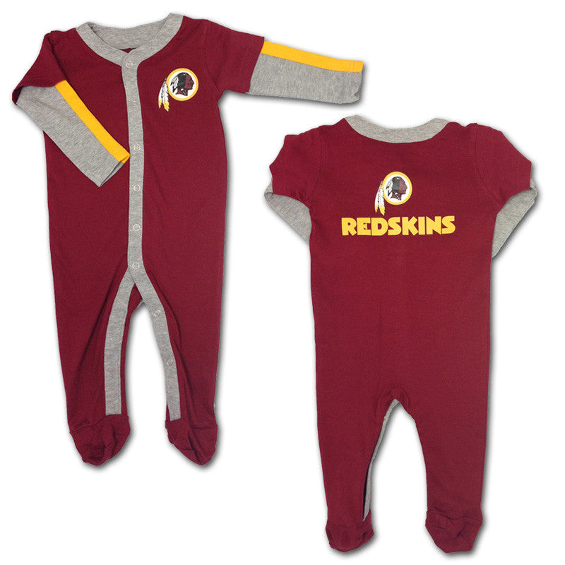 Baby Redskins Layered Sleeve Coverall
