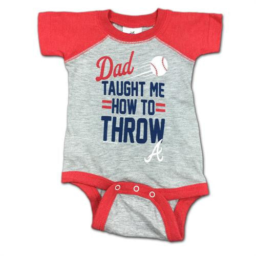"Braves Baby ""Dad Taught Me"" Bodysuit"