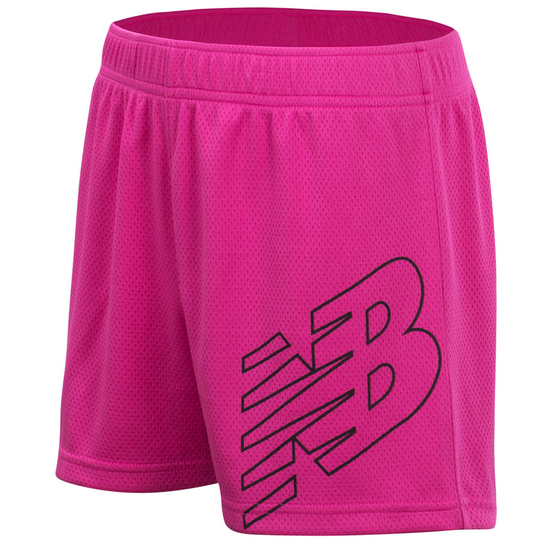 New Balance Girls Carnival Pink Core Shorts