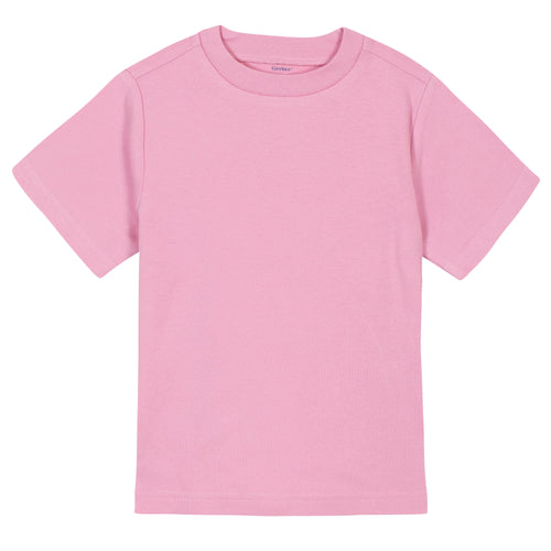Girls Light Pink Classic Short Sleeve Tee Shirt