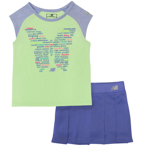 New Balance 2-Piece Girls  Skort and Shirt Set