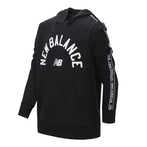 New Balance Boys Black Terry Hooded Pullover