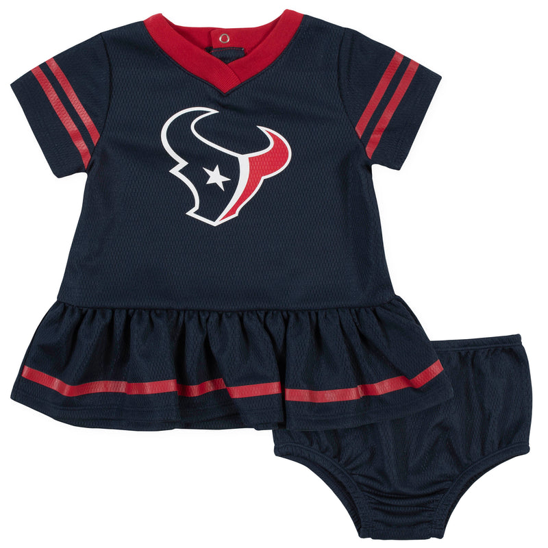 Texans Baby Girl Team Dress with Bloomers