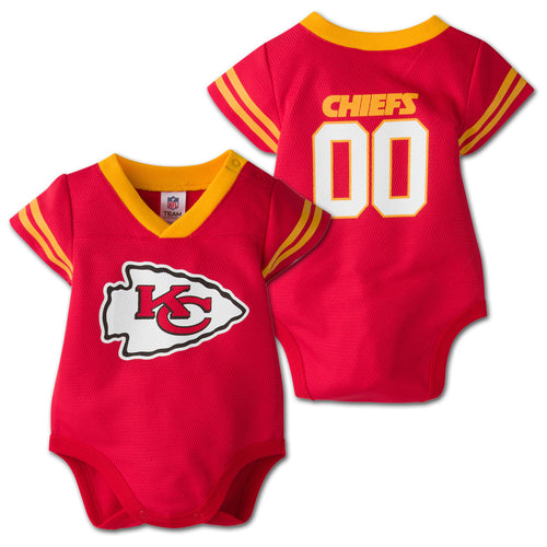 Baby Chiefs Football Jersey Onesie