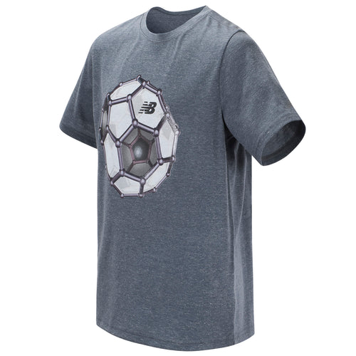 New Balance Boys Thunder Heather Short Sleeve Graphic Tee