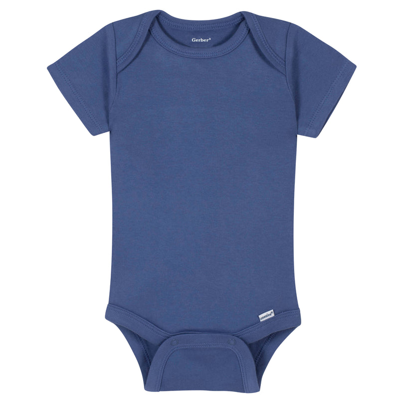 Boys Royal Blue Classic Short Sleeve Onesies® Brand Bodysuit