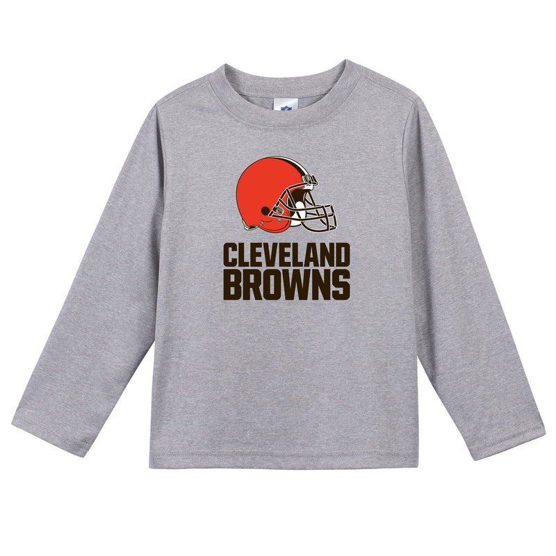 Cleveland Browns Boys Long Sleeve Tee