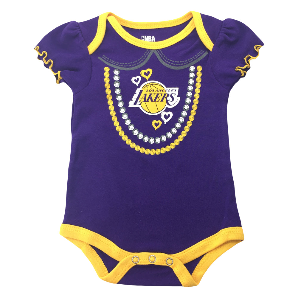 Lakers Girl 3 Pack Short Sleeve Creepers – babyfans d46981deb