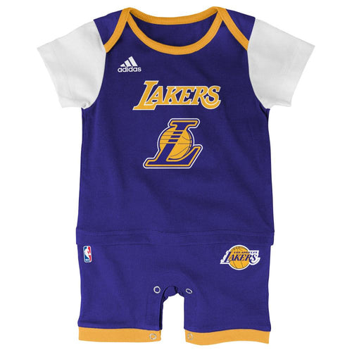 Baby fans lakers baby clothes dresses and jerseys babyfans lakers basketball newborn jersey romper negle Choice Image