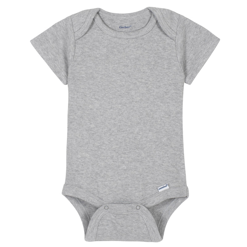 Light Gray Classic Short Sleeve Onesies® Brand Bodysuit