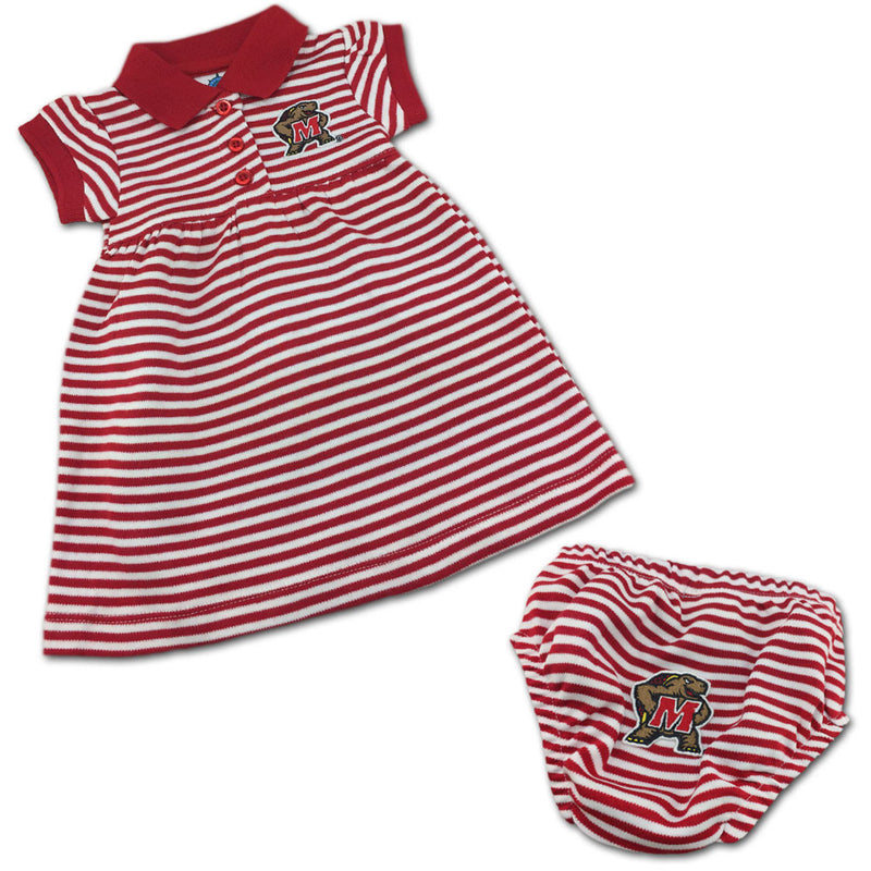 Maryland Striped Polo Dress with Bloomers