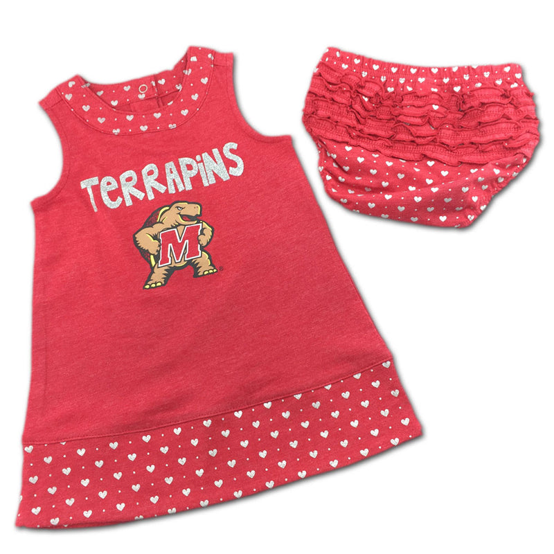 Maryland Spirited Heart Dress with Bloomers