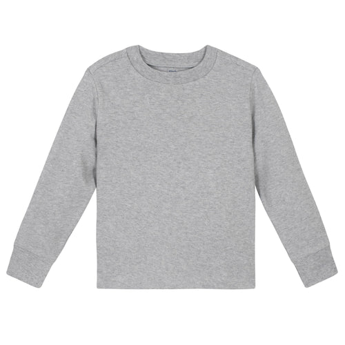 Light Gray Classic Long Sleeve Tee Shirt