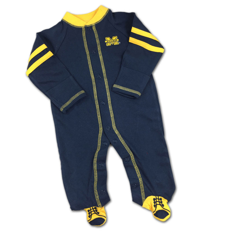 Michigan Sports Shoe Baby Sleeper