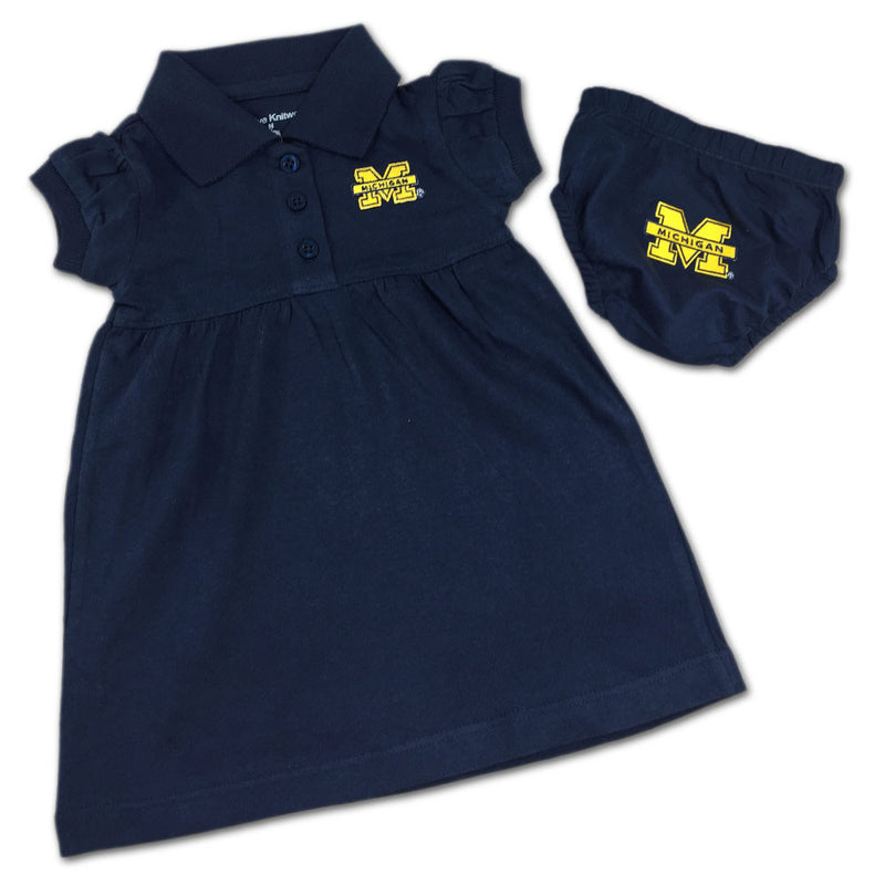 Michigan Polo Dress with Embroidered Bloomers