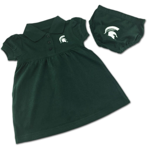 Michigan State Polo Dress with Embroidered Bloomers