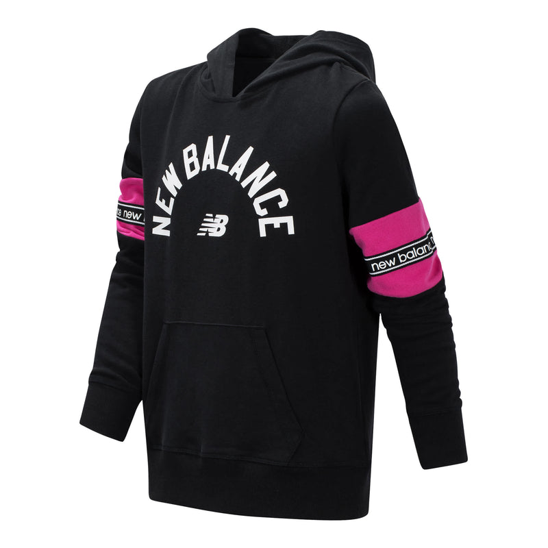 New Balance Girls Black Terry Pullover