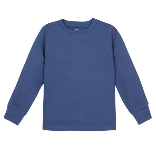 Boys Royal Blue Classic Long Sleeve Tee Shirt