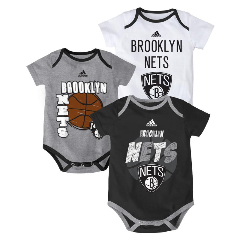 Nets Basketball Onesie 3-Pack