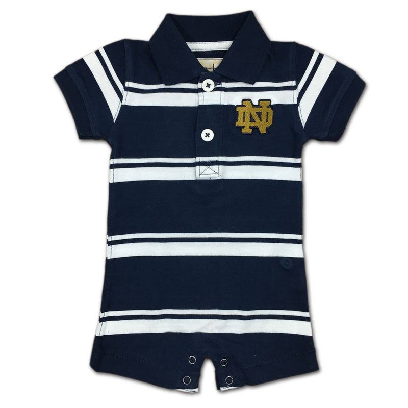 Notre Dame Golf Shirt Style Romper