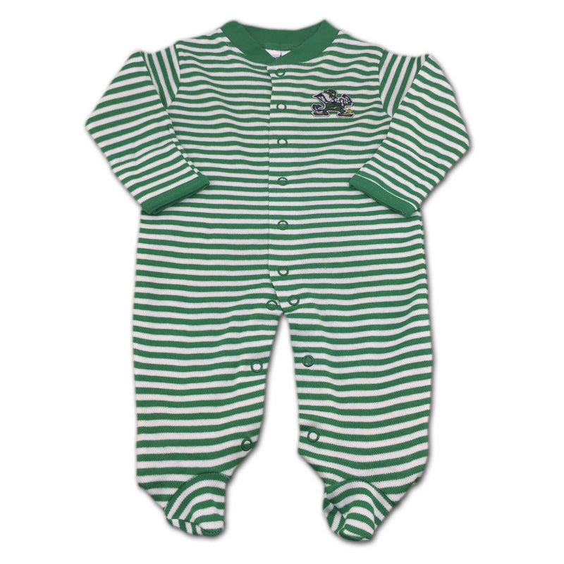 Notre Dame Striped Footed Sleeper