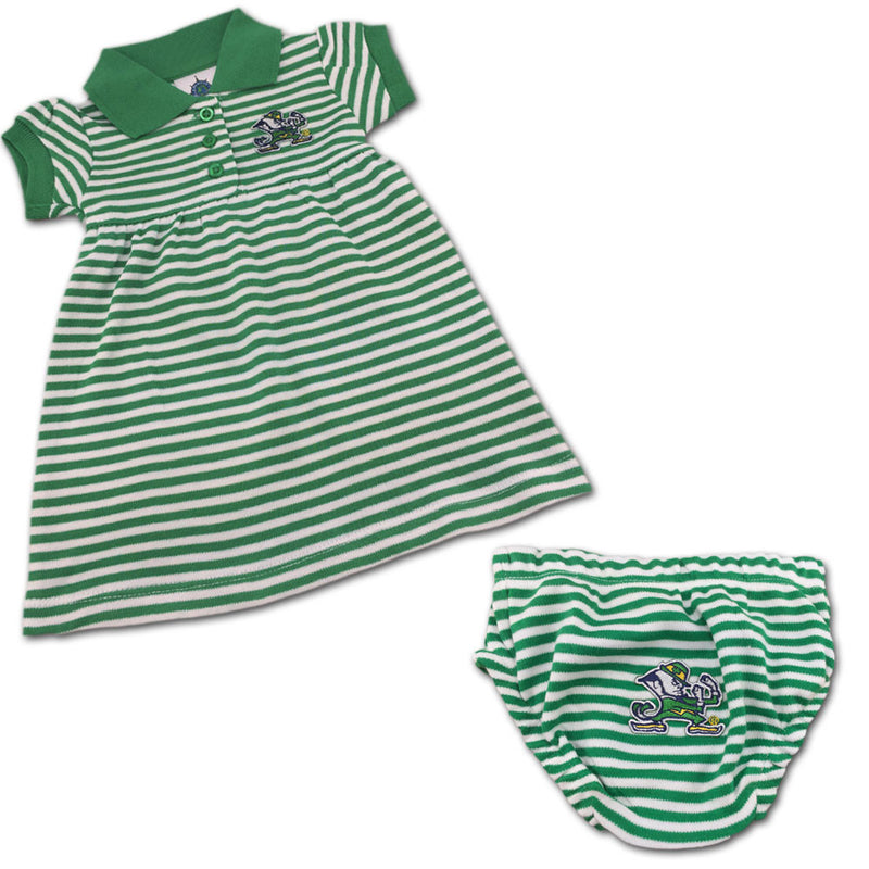 Notre Dame Striped Polo Dress with Bloomers