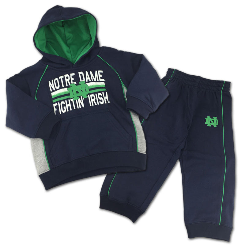 Fighting Irish Fan Sweatshirt Fleece Set
