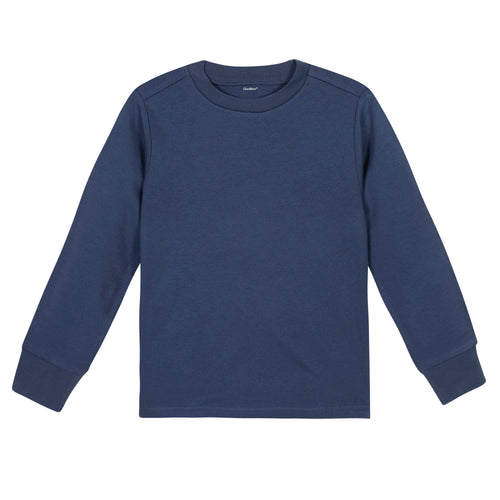 Boys Navy Classic Long Sleeve Tee Shirt