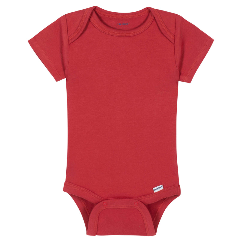 Red Classic Short Sleeve Onesies® Brand Bodysuit
