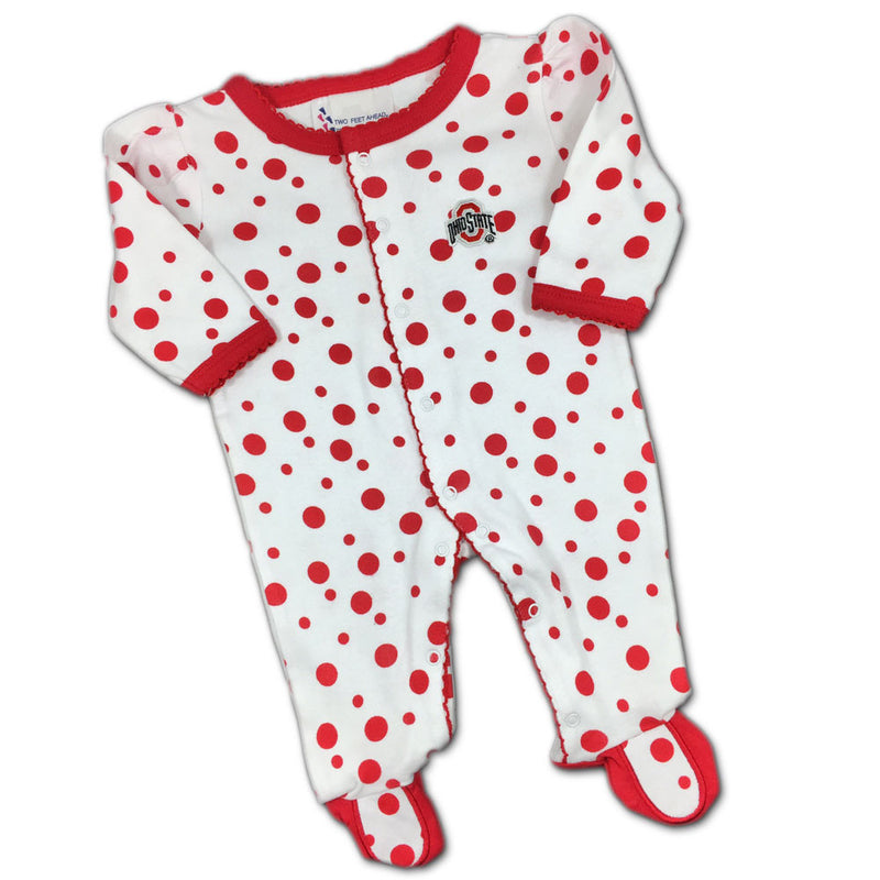 OSU Dotty Baby Coverall