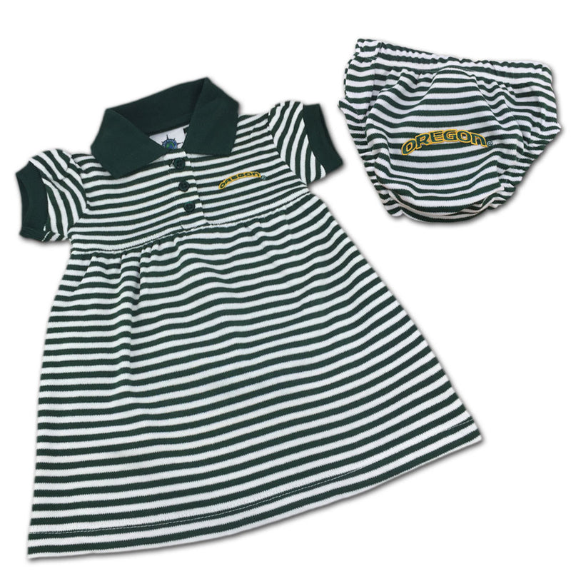 Oregon Striped Polo Dress with Bloomers