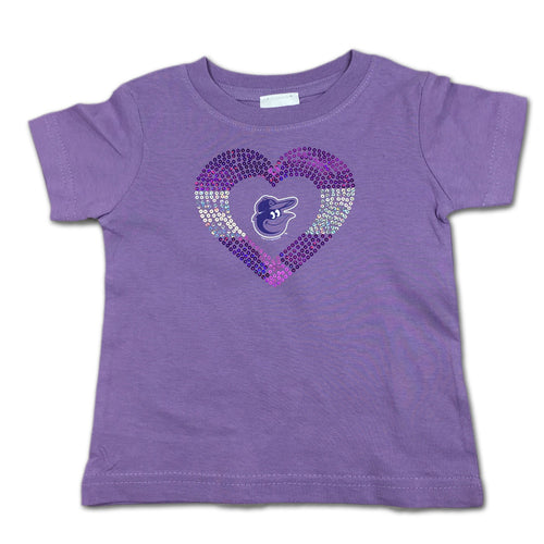 Sparkly Heart Lavender Orioles Tee