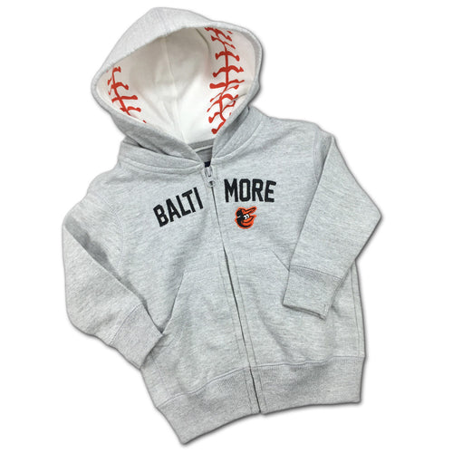 Embroidered Zip Up Orioles Toddler Hoodie