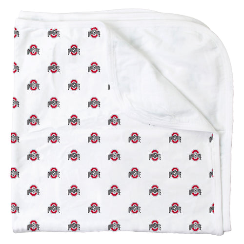 Ohio State All Over Print Logo Blanket