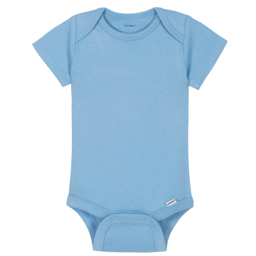 Boys Light Blue Classic Short Sleeve Onesies® Brand Bodysuit