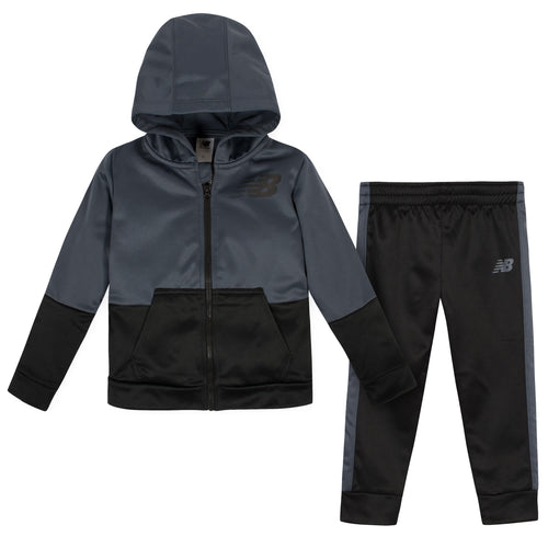 New Balance 2-Piece Girls Thunder/Black Fleece Jacket and Pant Set