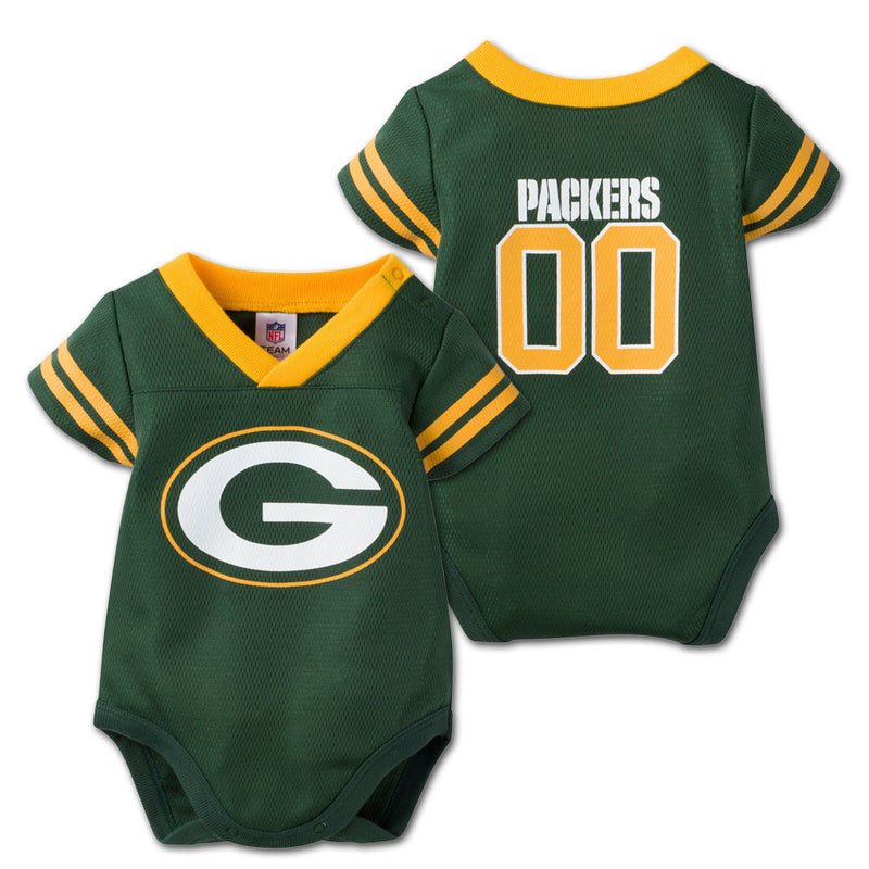 Baby Packers Football Jersey Onesie
