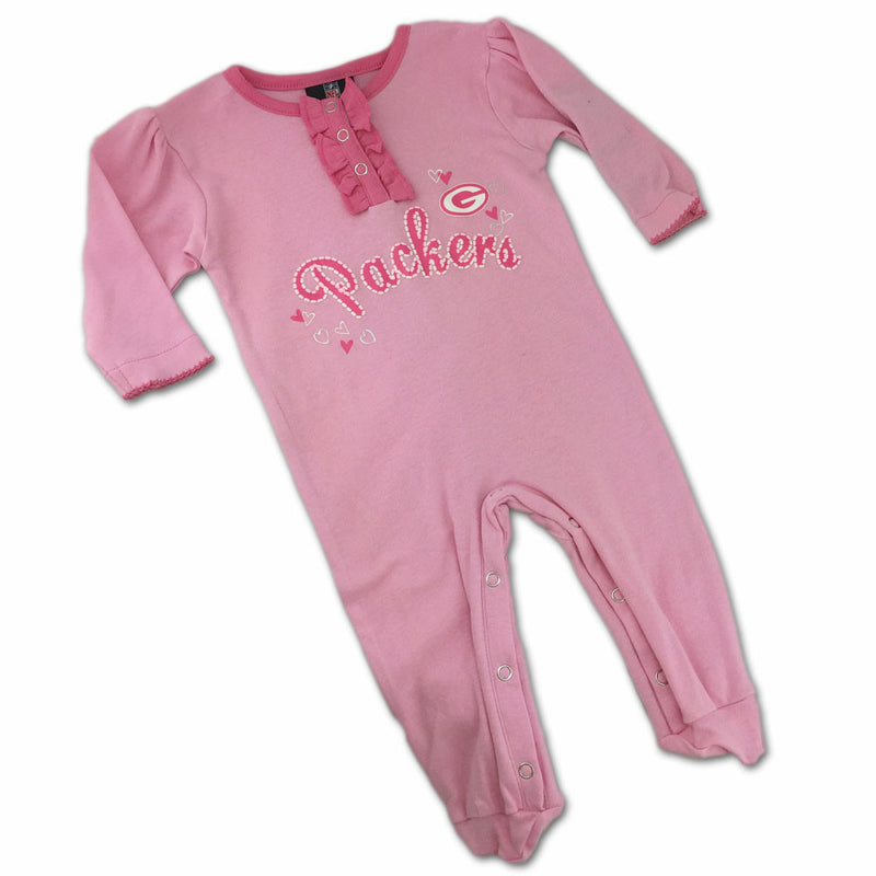 Green Bay Packers Pink Baby Sleeper