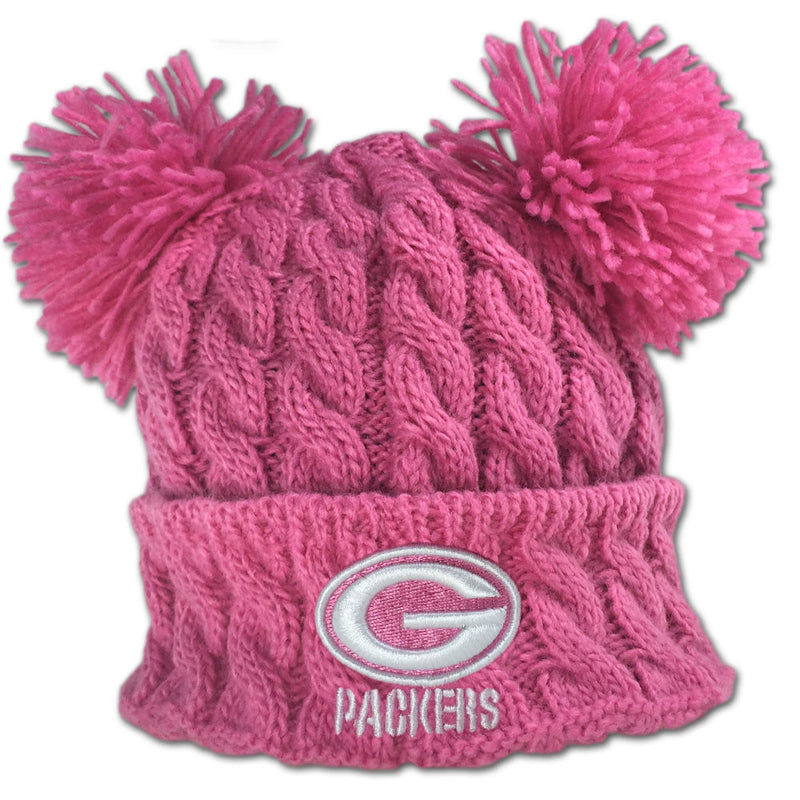 Packers Pink Double Pom Pom Hat