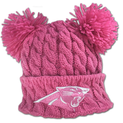 Panthers Pink Double Pom Pom Hat