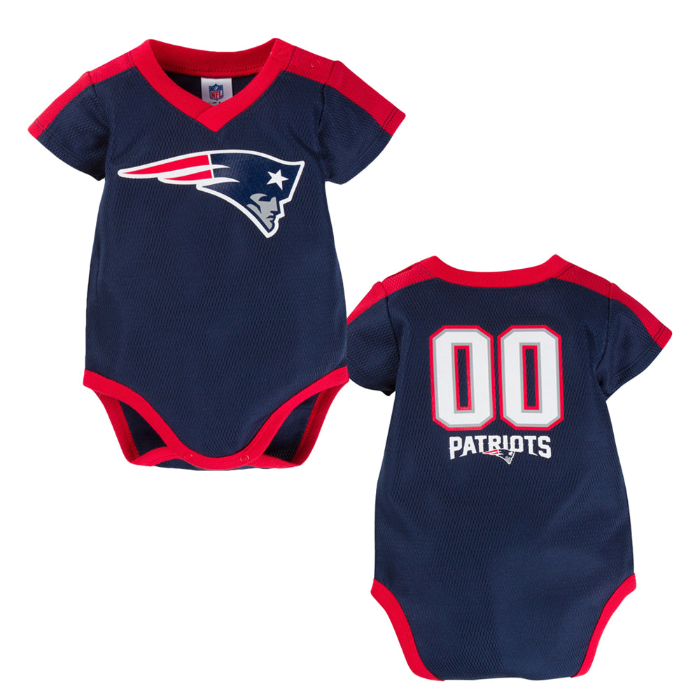 baby patriots jersey onesie nfl clothes england infant toddler apparel babyfans