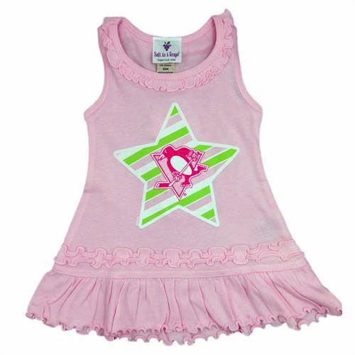 Pittsburgh Penguins Infant Pink Dress