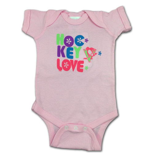 Penguins Pink Hockey Love Body Suit
