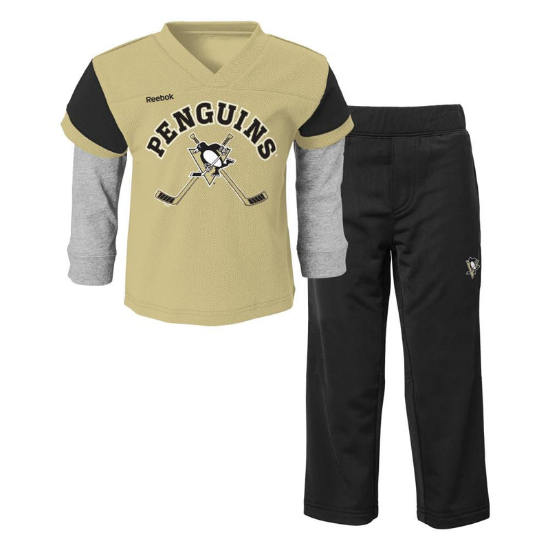 Penguins Layered Shirt and Pants Set