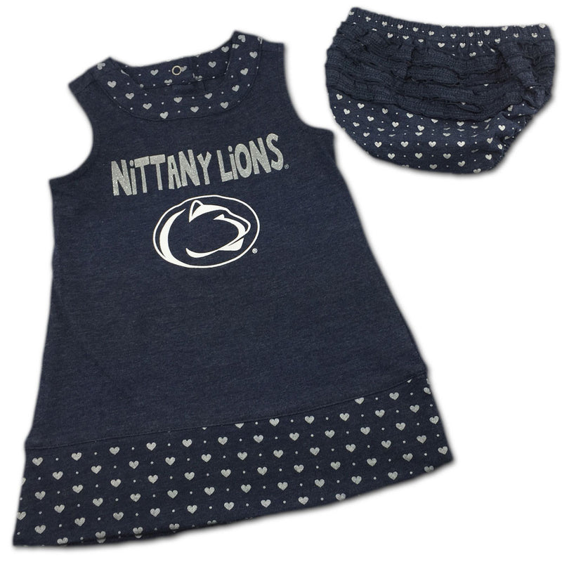 Penn State Spirited Heart Dress with Bloomers