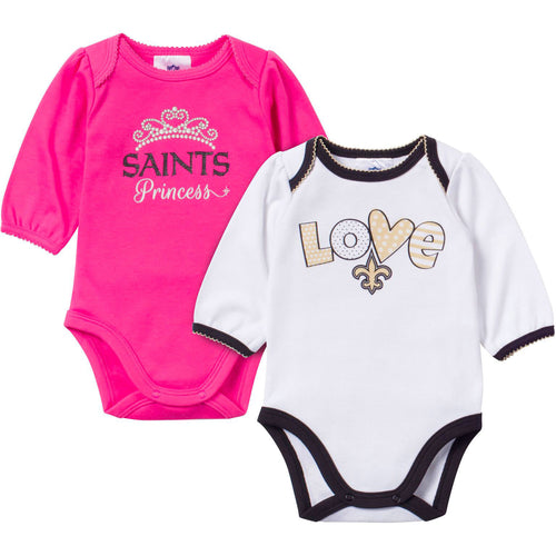 Baby Saints Girl Long Sleeve Onesie 2 Pack