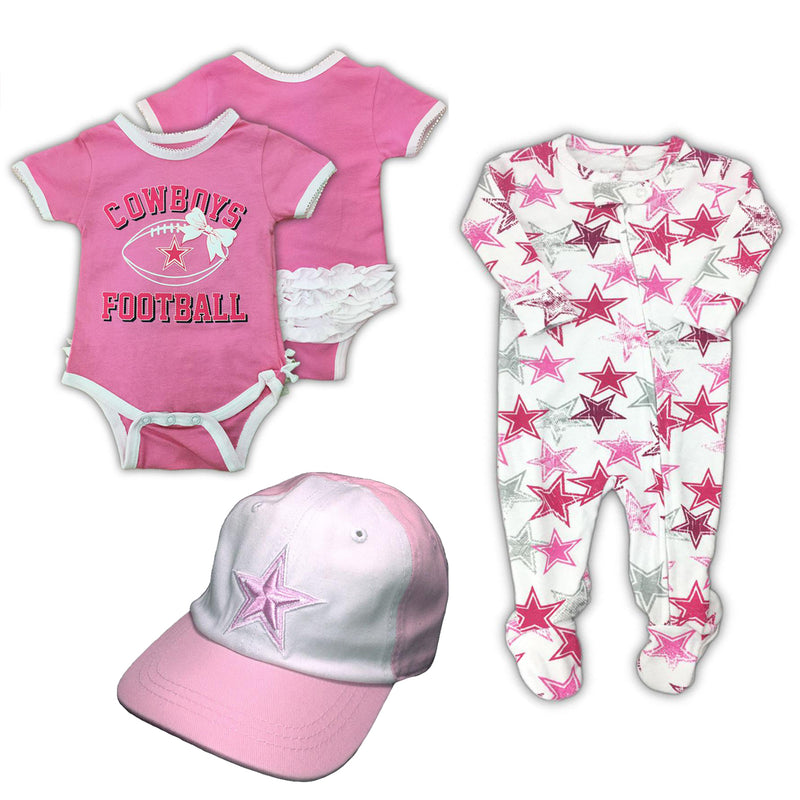 Cowboys Baby Girl Gift Set (6-9 Months)