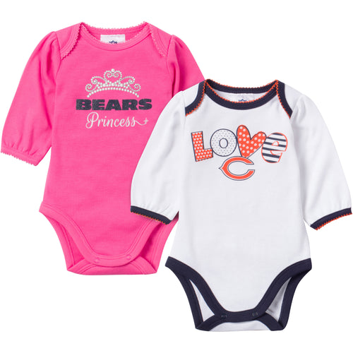 Baby Bears Girl Long Sleeve Onesie 2 Pack