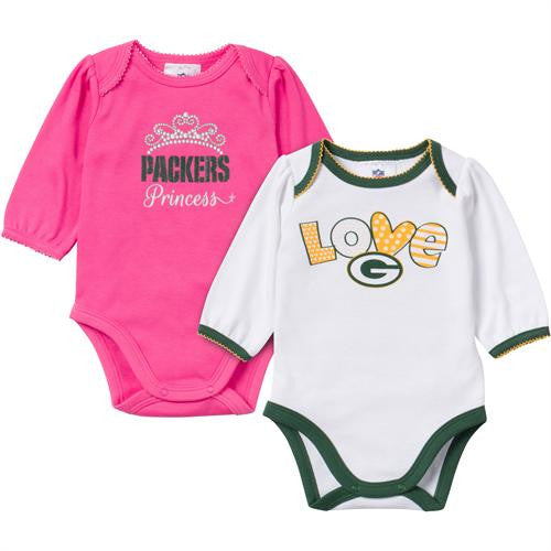 Baby Packers Girl Long Sleeve Onesie 2 Pack