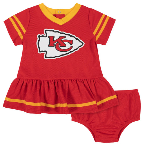 Chiefs Baby Baby Girl Team Dress with Bloomers